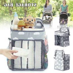 Baby Stroller Hanging Nursery Organizer Multifunctional Diap
