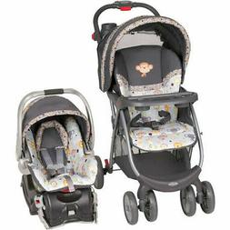 Baby Stroller/ Infant Car Seat Travel System Combo Set Rear