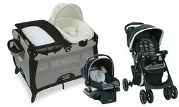 Baby Stroller Travel System with Car Seat Playard Crib Bassi