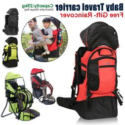 Baby toddler Carrier Backpack w/ Raincover Child Kid Canopy