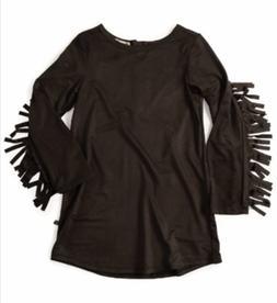 Appaman Baby Toddler Girls Black Fringe Dress 2 2T NWT INVEN