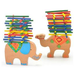 Baby Toddler Montessori Toys Wood Tetris Puzzle Stacking Blo