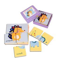 Baby Toys 4pcs Large Size Puzzles 6 Pictures/set 24 Puzzles