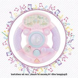 Baby Toys Simulation Car Steering Wheel Music Early Educatio