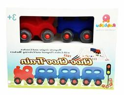 """Baby Toys - Rubbabu - Soft Doll 4""""Little Train Set with Mat"""
