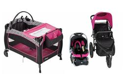Baby Trend Stroller with Car Seat Playard Nursery Travel Sys