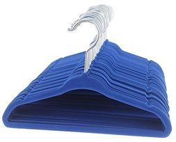 Juvale Baby Size Ultra Thin No Slip Velvet Hangers, Blue, Se