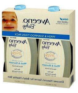 Aveeno Baby Wash Tear-Free Shampoo For Hair and Body, 2 pk 1