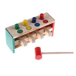 Baby Wooden Hammer Beat Toys Game Hammers Child Musical Inst