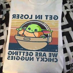 Baby Yoda Getting Chicky Nuggies Album Parody Tshirt Unisex
