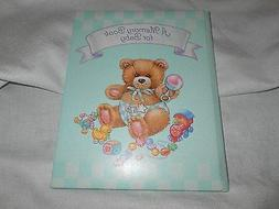 BABYS  RECORD BABY BOOK MEMORY BABY GEAR GREEN bear carlton