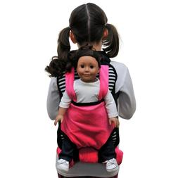 Child's Backpack & Doll Carrier Sleeping Bag For 18In Americ