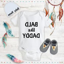 Bald Funny Onesies Beanie Boy Shoes Baby Shower Gift Set New