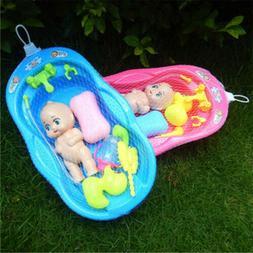 Bathtub With Baby Doll Bath Toy Set Girls Pretend Play Bath