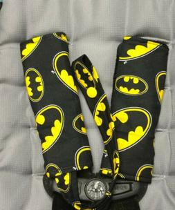 Batman Infant Toddler Car Seat Strap Covers pacifier clip -