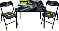 BatMan New Kids Table and 2 Chairs Set -Toddler and Child De
