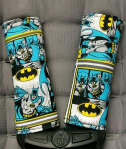Batman Superhero Blue Infant Toddler Car Seat Strap Covers -