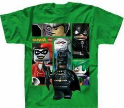 Lego Batman The Movie Green Child Boys size 8 Medium Tee Shi