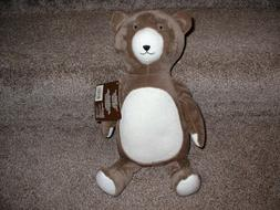 Dwell Studio Bear Hugs Plush Brown Teddy Baby Infant Toy Nur