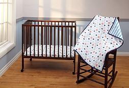 Disney Baby Bedding Mickey Mouse 3-Piece Portable Crib Beddi