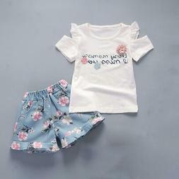BibiCola baby girls Clothing set baby Summer clothes sets Ki