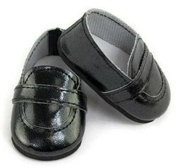 "Black Loafer Dress Shoes Boy made for 15"" Bitty Baby & Bitty"