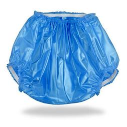 Blue Plastic Pants Diaper Cover for Adult Baby Diapers & Nap