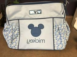 Blue Disney Mickey Mouse Diaper Baby Bag Boys Girls NWT
