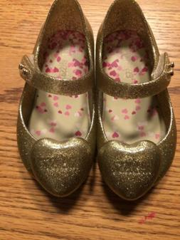 BNWT Authentic MINI MELISSA YOUTH 6 Gold Glitter Great For P