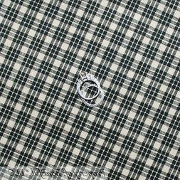 BonEful Fabric FQ Cotton Quilt Black Tan Country Sm Log Cabi