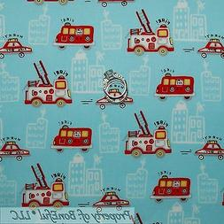 BonEful FABRIC FQ Cotton Quilt Blue Red White VTG Baby Boy F