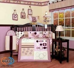 Boutique GEENNY Baby Girl Artist 13PCS CRIB BEDDING SET