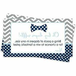 Bow Tie Diaper Raffle Tickets - Baby Shower Game Pack Of 25