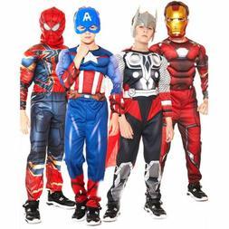 Boy Kids The Avengers Superhero Book Week Cosplay Costume Fa