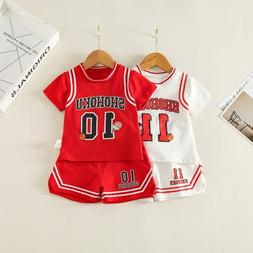 Boys baby sport short-sleeved 2-piece suit basketball 2019 c