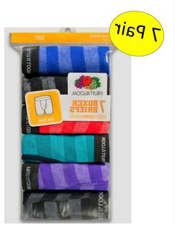 Boys Fruit of the Loom Boxer Briefs ~ Size L 14-16 ~ 7 Pack