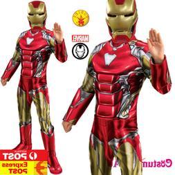 Boys Licensed Iron Man Costume Child Kids Superhero Marvel A