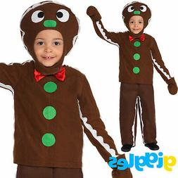 Boys Little Ginger Bread Man Costume Xmas Christmas Book Wee