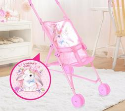 BRAND NEW SALE Pink Toy Stroller for Baby Dolls Pretend Play