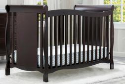 Delta Children Brookside 4-in-1 Convertible Crib Dark Chocol