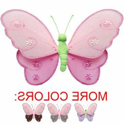 Butterfly Decor Nylon Hanging Wall Ceiling Baby Nursery Room