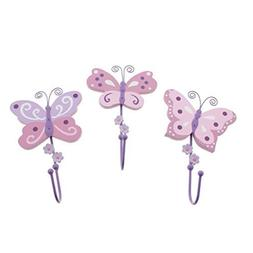 Koala Baby 3PC Nursery Butterfly Wall Decor Pink O/S