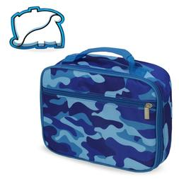 Keeli Kids Camouflage Lunch Box School Lunch Tote with Dino