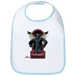 CafePress Captain Marvel Movie Photon Cotton Baby Bib