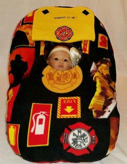 Car Seat Cover Fire Fighter Baby Yellow Cozy Infant Fleece W