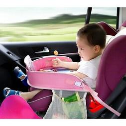 Car Seat Tray Storage Table Kids Toys Drink Holder Dining Ta