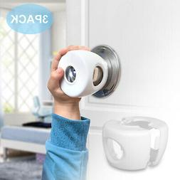3x Children Baby Safety Lock Door Knob Cover Child Proof Saf