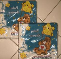 CARE BEARS BABY SHOWER Party Supplies 32 LUNCH NAPKINS  Serv