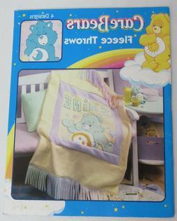Care Bears Fleece Blanket Throw Patterns Booklet New Leisure