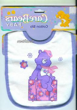 Care Bears SHARE BEAR feeding BIB Lollipop Flowers for baby
